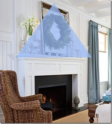 Mantel Triangle How to Decorate a Mantel