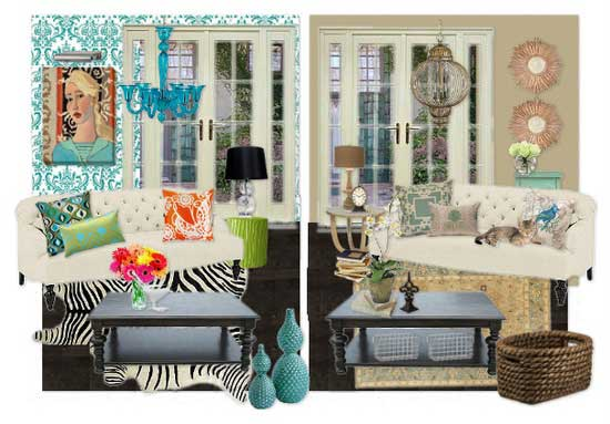 One Room - Two Styles!