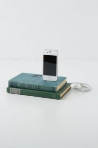 anthropologie vintage book iPhone charger
