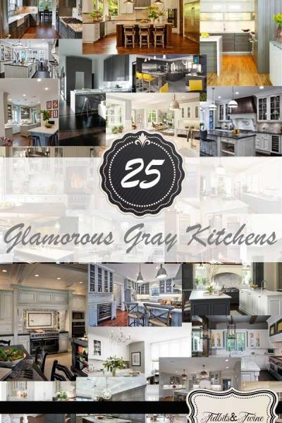25 Glamorous Gray Kitchens