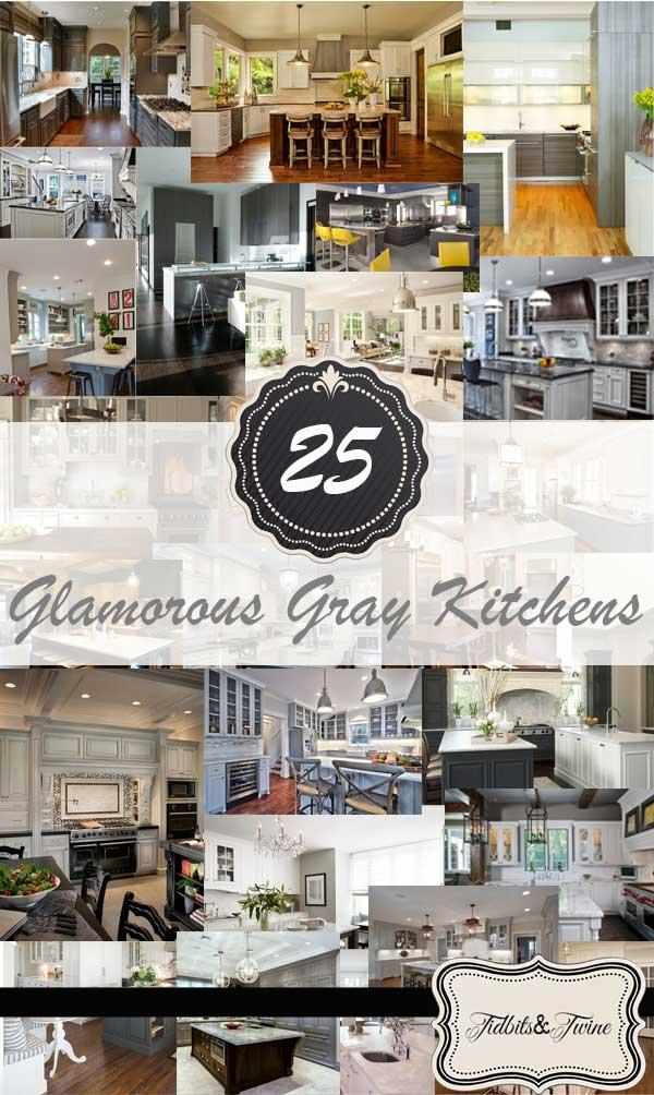 Tidbits&Twine - 25 Glamorous Gray Kitchens
