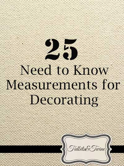 25 Need to Know Measurements for Decorating