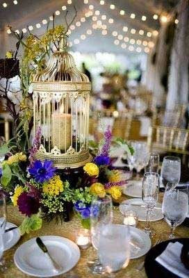 Birdcage Centerpiece Decorating with Birdcages   12 Creative Ideas for Everyday Use