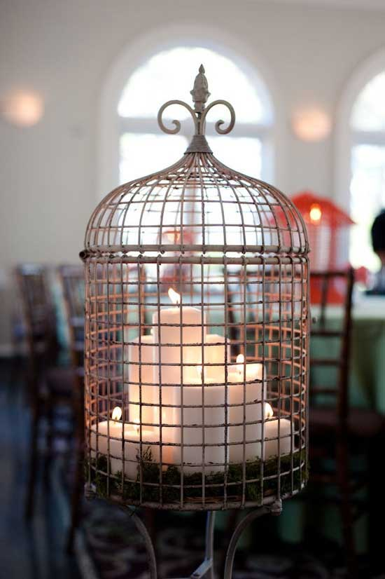 Birdcage with Candles Decorating with Birdcages   12 Creative Ideas for Everyday Use