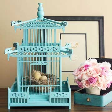 Birdcage with Eggs Decorating with Birdcages   12 Creative Ideas for Everyday Use