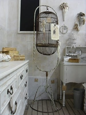 Birdcage with Letters Decorating with Birdcages   12 Creative Ideas for Everyday Use