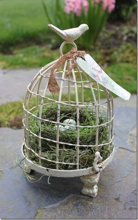 Birdcage with Nest Decorating with Birdcages   12 Creative Ideas for Everyday Use