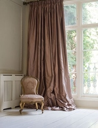 Puddled Silk Curtain