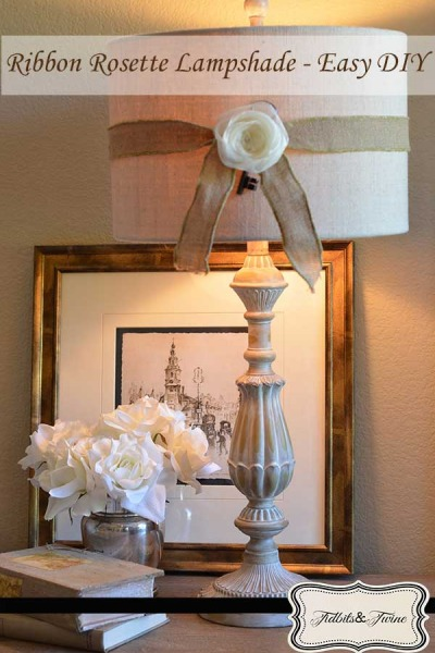 Ribbon Rosette Lampshade – Easy DIY