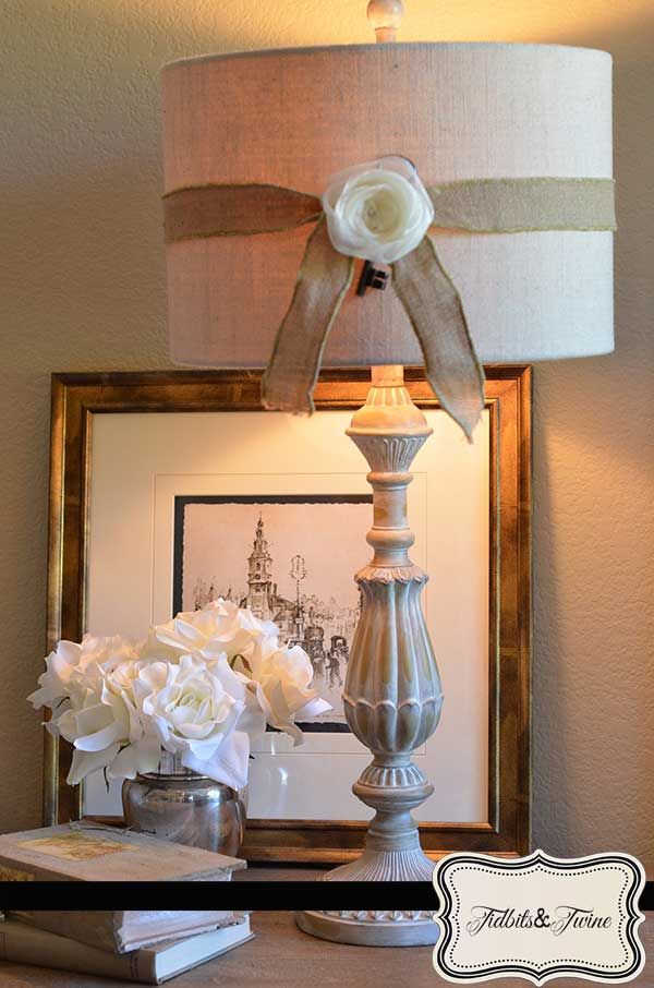 Ribbon Rosette Lampshade - Easy DIY