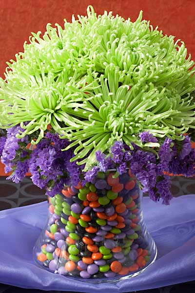 Vase filled with candy