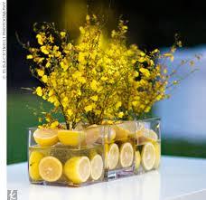 Vase filled with lemons