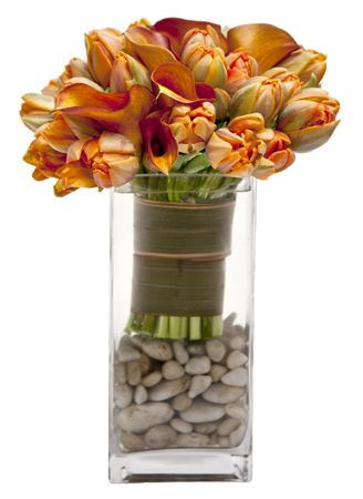 Vase filled with rocks