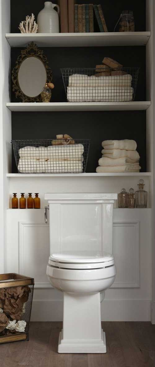 Vertical Storage in Bathroom