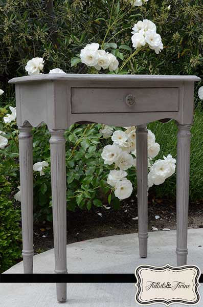CeCe Caldwell Chalk Painted Side Table Tidbits and Twine