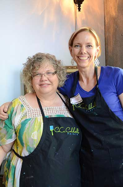 CeCe Caldwell and Karen Berg of Redoux CeCe Caldwells Paints   My First Chalk Painting Project