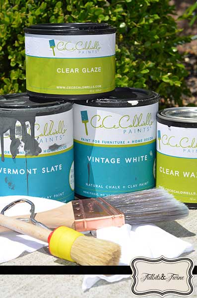 CeCe Caldwell's Paints for Vintage Urn Project - Tidbits&Twine - Copy