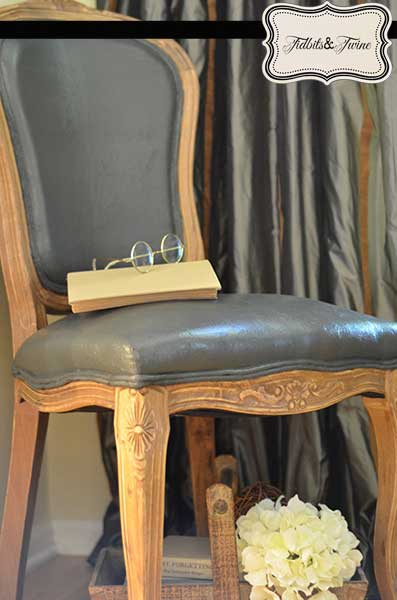Chalk Painted Velvet Chair CeCeCaldwell - Tidbits&Twine