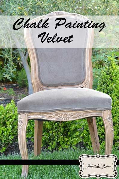 diy FAIL – Chalk Painting a Velvet Chair