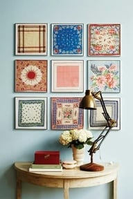 Framed Handkerchief Collection
