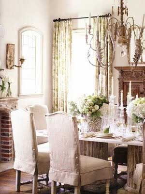 Rustic Romantic Dining Rooms TIDBITS TWINE