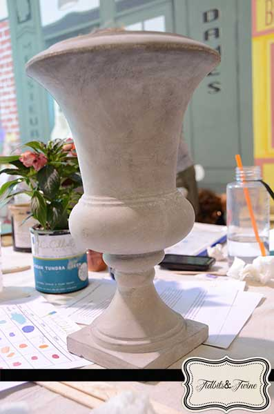 Unfinished Urn from HomeGoods - Tidbits&Twine