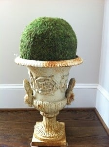 Vintage Urn with Moss