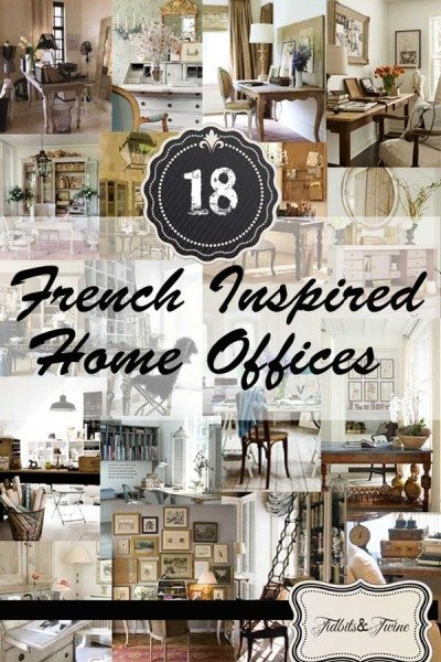 18 French Inspired Home Offices