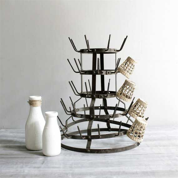 Vintage Series: Decorating with French Bottle Drying Racks