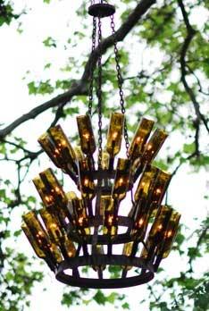 Bottle Rack Chandelier