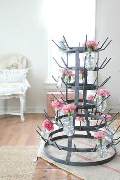 Bottle Rack - Flowers