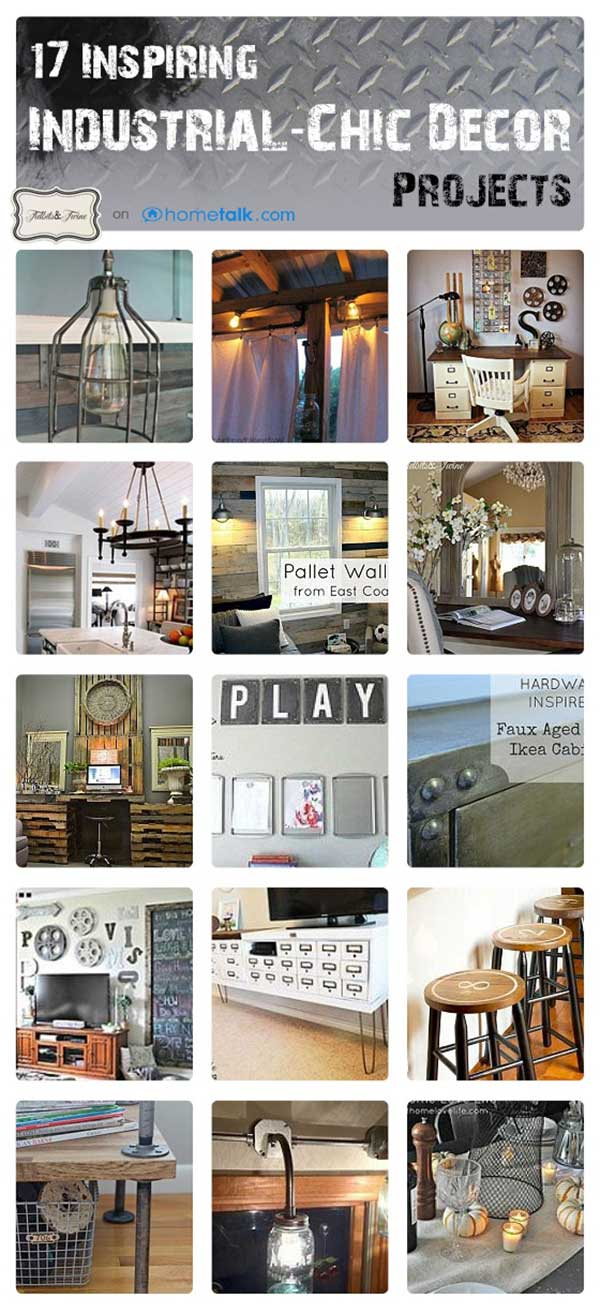 17 Industrial Chic Projects You Should Try!