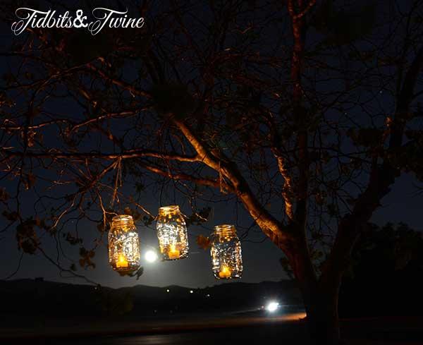 Mason Jar Candle Lantern Night Tidbitts&Twine