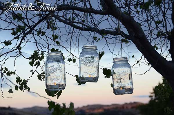 Mason Jar Candle Lanterns Tidbits&Twine 3
