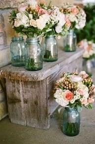 Mason Jar Clear Vase Casual Elegance
