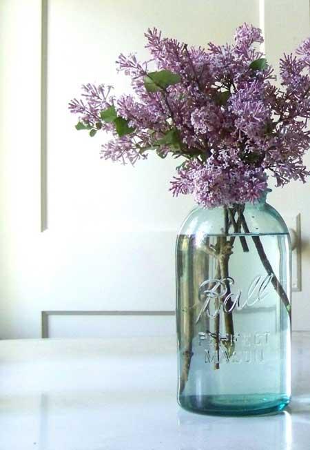 Mason Jar Clear Vase