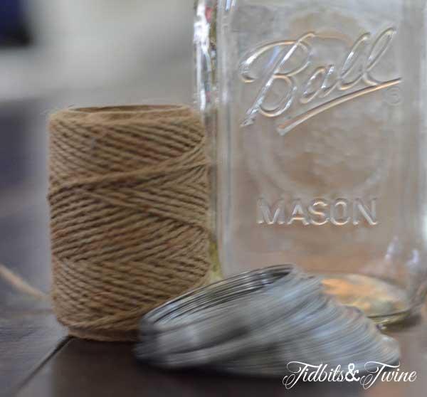 Mason Jar Manicure Supplies Tidbits&Twine