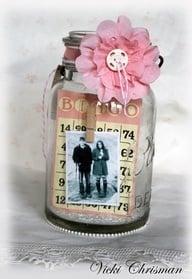 Mason Jar Photo Display