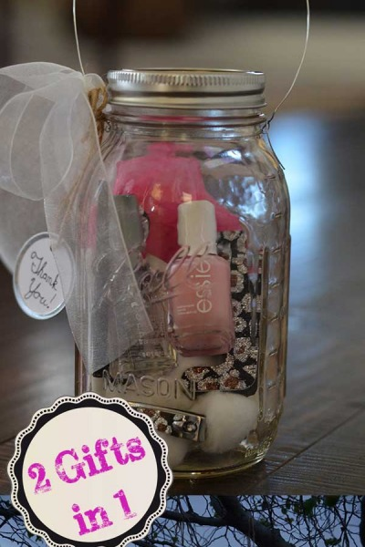 DIY Mason Jar Manicure Set & Lantern