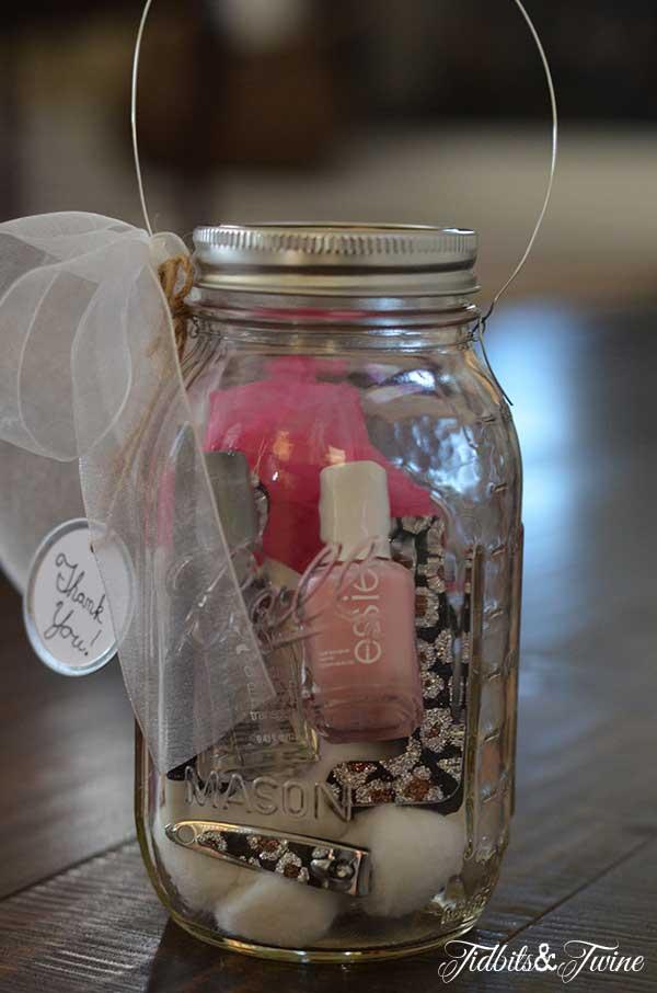 Tidbits&Twine Teacher Appreciation Mason Jar Manicure Set and Light2