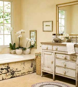 Tin Ceiling Tile on a Bathtub
