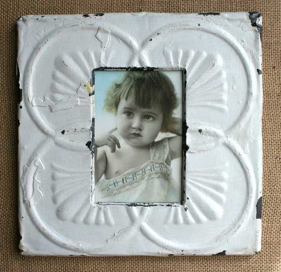 Tin ceiling tile frame by Vintage Home Accents Tidbits&Twine