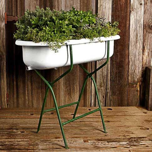 Vintage Series: Decorating with Baby Bathtubs
