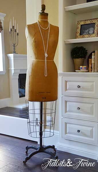Vintage Dress Form with Pearls 2 - Tidbits&Twine