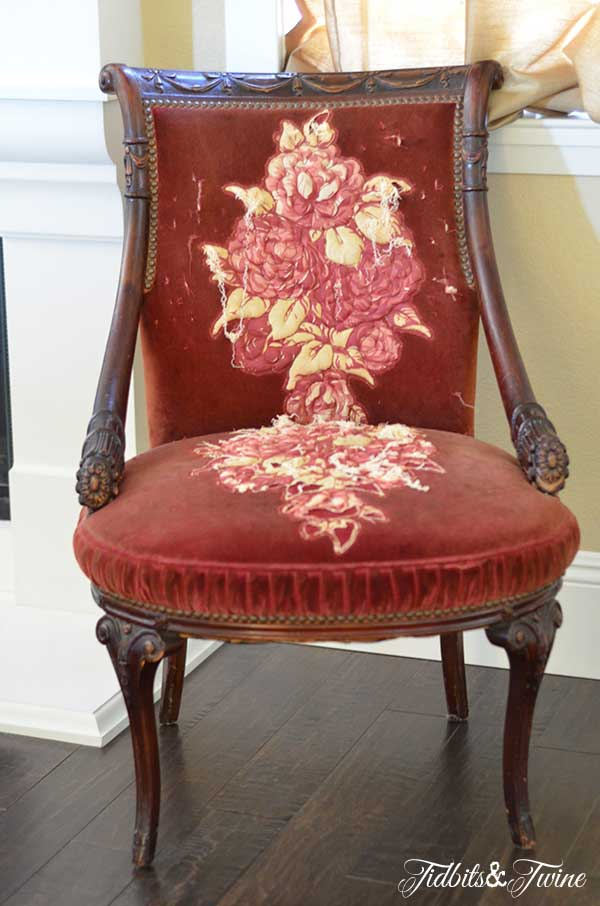 Antique Chair Tidbits&Twine - Reupholstering My Antique Chairs