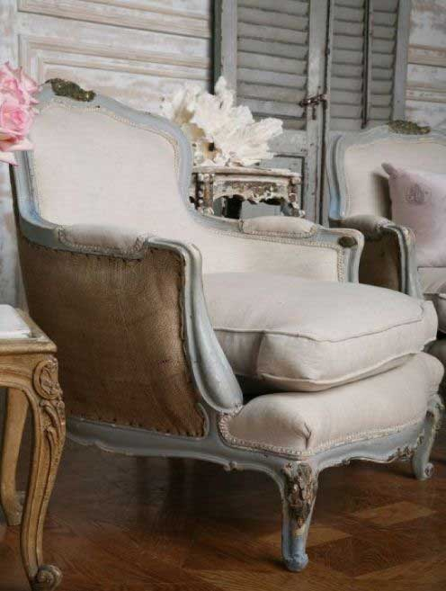 Chair Inspiration Contrasting Back Fabric Tidbits&Twine
