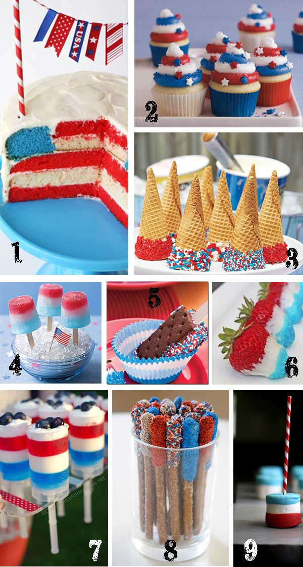 July 4th Desserts TidbitsTwine 25 Patriotic Projects   4th of July Party Roundup