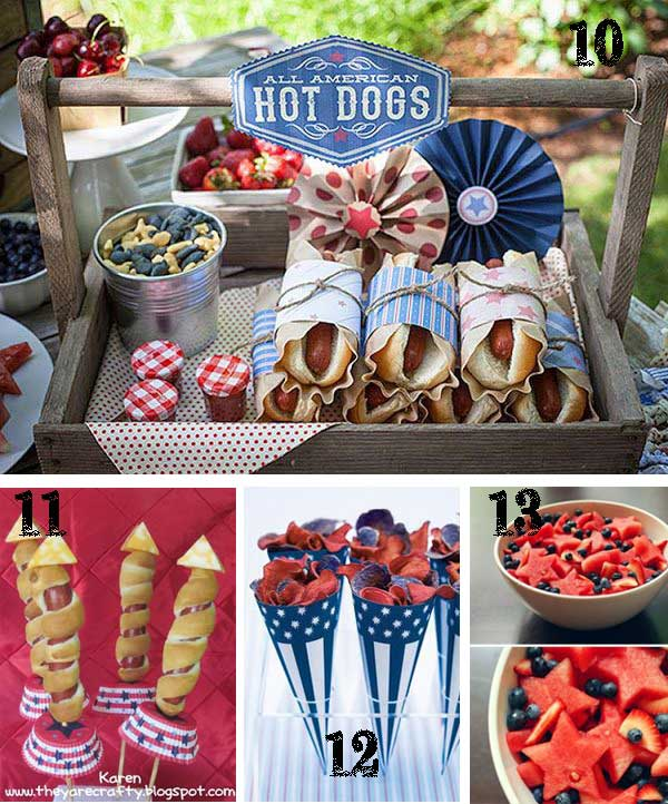 July 4th Food TidbitsTwine 25 Patriotic Projects   4th of July Party Roundup