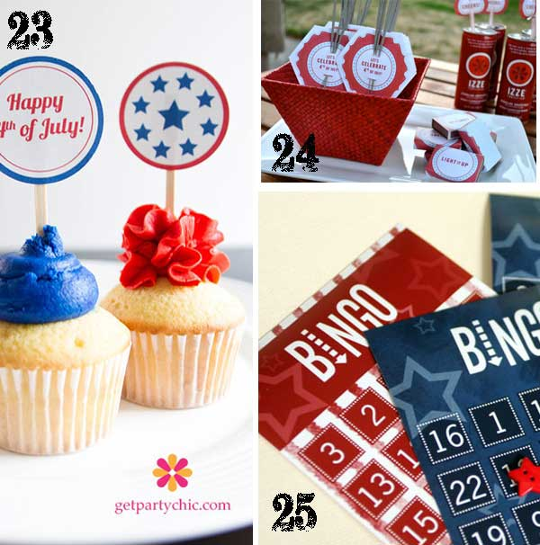 July 4th Free Printables TidbitsTwine1 25 Patriotic Projects   4th of July Party Roundup