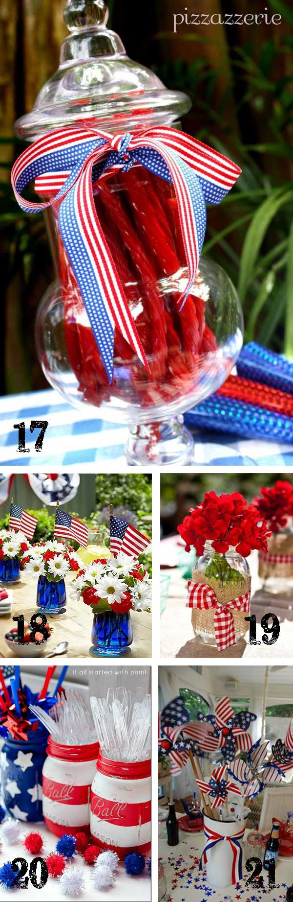 July 4th Tablescapes TidbitsTwine 25 Patriotic Projects   4th of July Party Roundup